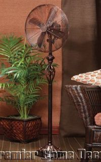 Old World Tuscan Oscillating Floor Standing Fan 3 Speed