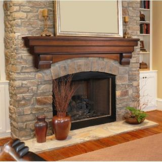 Pearl Mantels Auburn Arched 60 Wood Fireplace Mantel Shelf Cherry 495