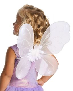 Girl White Fairy Butterfly Wings Halloween Costume Accessory Little