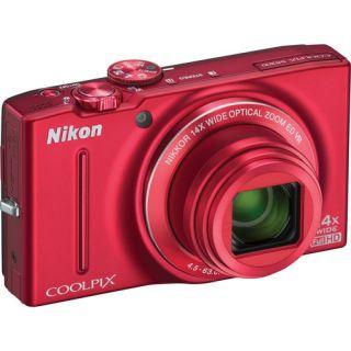 Nikon Coolpix S8200 Digital Camera Red Refurbished 18208262892