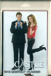 Castle Nathan Fillion Stana Katic 2013 Monthly Planner