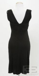 Foley Black Pleated Sleeveless V Neck Dress Cap Sleeve Dress Size XS