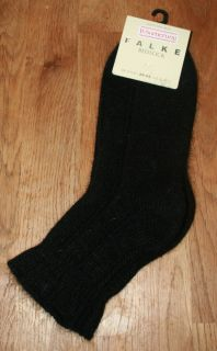 Falke Luxury Angora Mix Bed Socks Black UK 5 1 2 8 US 8 10 1 2 EUR 39