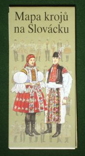 Map of Moravian Folk Costumes Czech ethnic fashion kroj   a great gift
