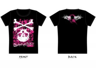 Quaff Japanese Rock Band Pink Fallin Skull Concert T Shirt Jrock