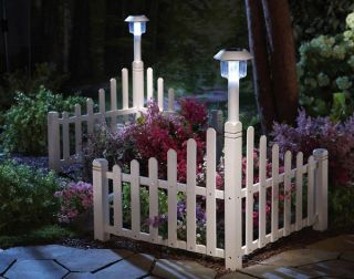 Fence 25 Tall Garden Corner Solar Light Lawn Flower Bed Edging