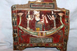 QUALITY ANCIENT EGYPTIAN MUMMY CARTONAGE OSIRIS ISIS 30th Dyn