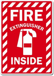 Fire Extinguisher Inside Sign Wall Window Car Vinyl Sticker Decal Pick
