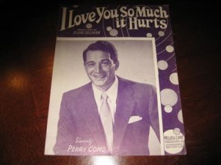 Love You So Much It Hurts 1948 Perry Como Floyd Tillman 3079
