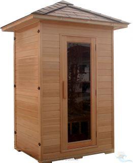 Person Sauna Outdoor Far Infrared Hemlock 7 Ceramic Heaters Am FM CD