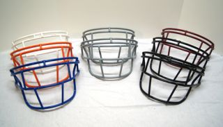Wholesale Lot x8 Football Helmet Face Guards Mask Schutt Orange Black