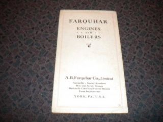 Farquhar steam Engines Boilers co. brochure sawmills threshers 1900s