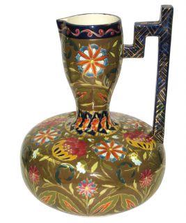 Fischer Budapest Antique Glazed Earthenware Ewer