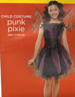 NWT Small 4 6 Child Punk Pixie Halloween Costume
