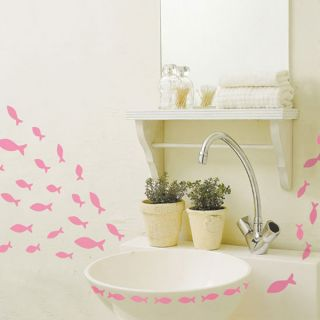 Pink Fish ★ Wall Bath Decor Vinyl Art Decal Stickers