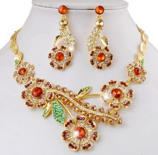 Party Necklace Earring Set Alloy Fashion Rhinestone Pearl