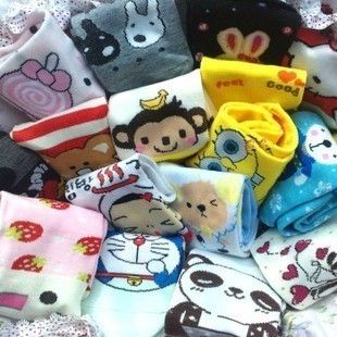 New Korea Japan Fashion Girl s Lovely Cartoon Cute Candy Color Fun