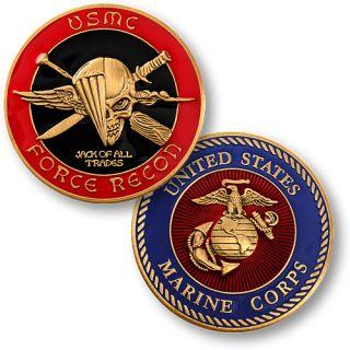 United States USMC Force Recon New Challenge Coin USMC