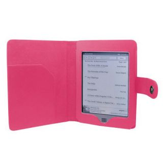 Folio Case Cover for  Kindle Touch 6 Tablet Hot Pink