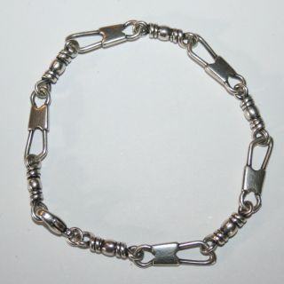 James Avery Sterling Silver Fishers of Men Bracelet 7 Retails $200
