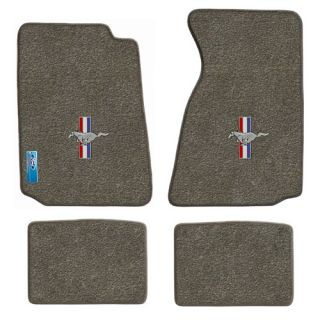 94 04 ford mustang carpet floor mats grey pony logo part number llo