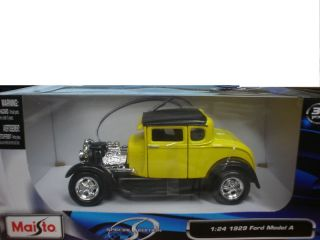 Maisto 1 24 1929 Ford Model A Diecast Car Yellow 31201