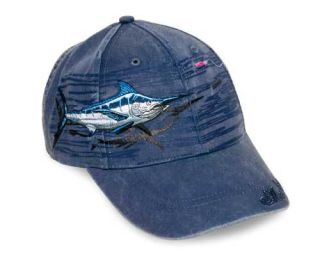 Marlin Fishing Hat Cap Detailed Embroidery