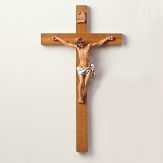 22 5 Fontanini Wood Polymer Crucifix Wall Cross Gift