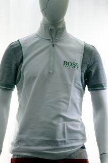 Hugo Boss Mens Modern Fit Pierick Pro Short Sleeve White Shirt