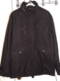 Mens Rocawear Black Wool Jacket Coat New Tags Large L