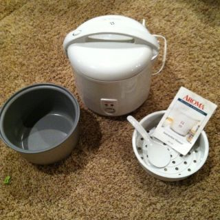 Aroma ARC 830 TC Rice Food Vegetable Steamer Cooker White 10 Cup