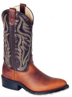 Double H Mens 3293 12 Western Boots Ochre Choc New 12D Made in USA