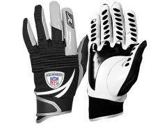New Reebok NFL Shred Padded Football Gloves Black White