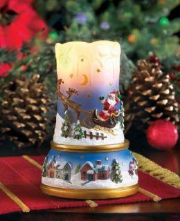 scenic santa sleigh christmas led flameless candle