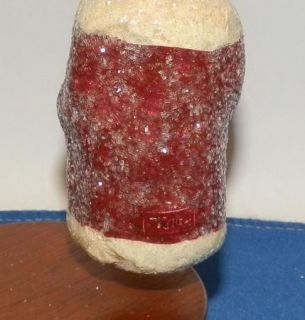 Teena Flanner Paper Mache Pulp Santa Christmas Ornament Signed