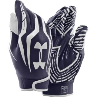 2012 Under Armour UA F3 Adult Receiver Football Gloves MD Navy Free