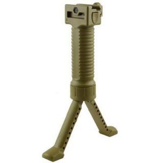 Fore Grip Spring Loaded Tactical Weaver Rail Foregrip Bipod Rifle Gun