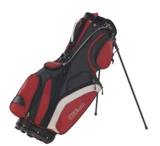 wick wilson golf alpine carry stand golf bag black red