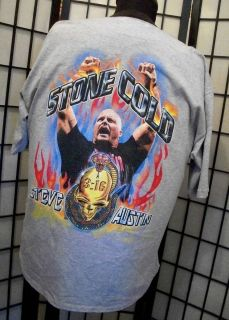 Vintage WWF STONE COLD Steve Austin 3 16 Jersey T SHIRT XL VTG WWE