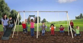 NEW Outdoor Play Swing Set Flexible Flyer Steel Metal Swings & Slide