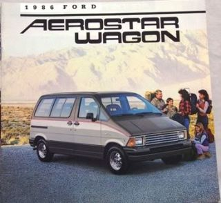 1986 ford aerostar wagon original sales brochure 21 pages brochure