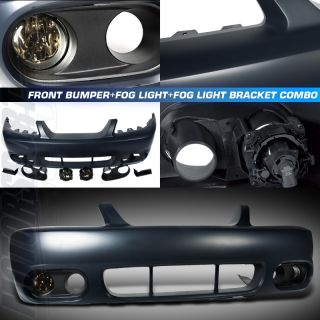 99 04 Ford Mustang Cobra Style Coupe Base GT Front Bumper Smoke Fog