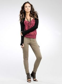 New Guess Jeans Jana Power Skinny Cargo Pants 25 27 28
