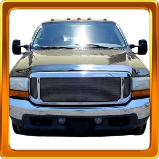 Wind Deflector Guard Chrome Hood Shield 00 05 Ford Excursion