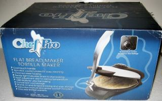LARGE FLAT BREAD AND TORTILLA MAKER Press Electric Cooker Flatbread