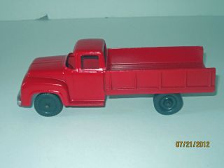 Vintage 1953 Tootsie Toy Red Ford F700 Restored Diecast Grain Truck