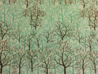Tree Trees Forrest Nature Green Print Cotton Fabric