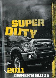 2011 Ford Super Duty Owners Manual New F250 F350 F450 F550 Pickup