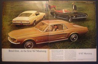 1967 Ford LTD Galaxie 6pg Mustang Falcon Fairlane1968 car ad 1966 1969