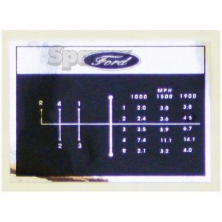 Ford Tractor Shift Pattern Decal 4 Speed 2000 3000